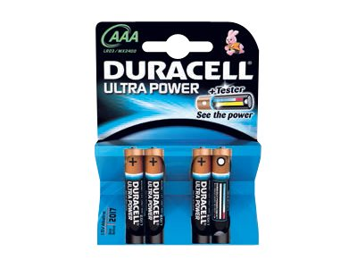 Duracell Ultra Power MX2400 - Batterie 4 x AAA-Typ Alkalisch