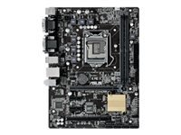 ASUS H110M-C - Motherboard - micro ATX - Gigabit LAN - onboard graphics (CPU required) - HD Audio (8