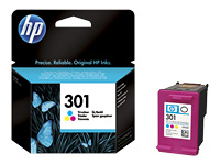 HP 301 - Dye-based tricolour - original - ink cartridge - for Deskjet 1000, 1010, 1050 J410, 1050A J410, 1051A J410, 1055 J410, 1056 J410, 1510, 1512