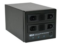 Tripp Lite USB 3.0 SuperSpeed 2 Bay SATA Hard Drive RAID Enclosure Hard drive array