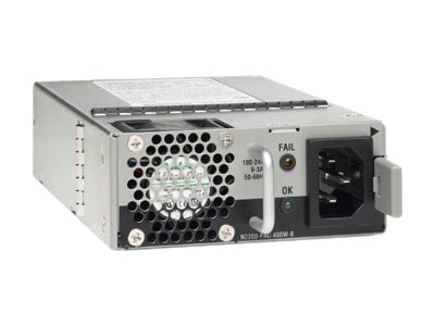 Cisco AC Power Supply with Back-to-Front Airflow - power supply - hot-plug - 400 Watt