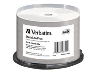 Verbatim DataLifePlus - 50 x CD-R - 700 MB 52x - white - ink jet printable surface, wide printable surface - spindle