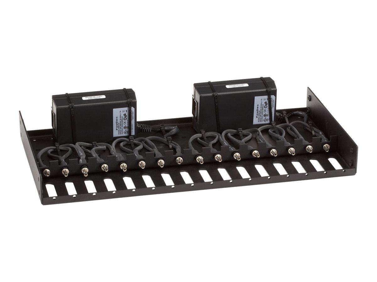 Black Box Rackmount Tray with 2 9-V Power Supplies - rack mounting tray