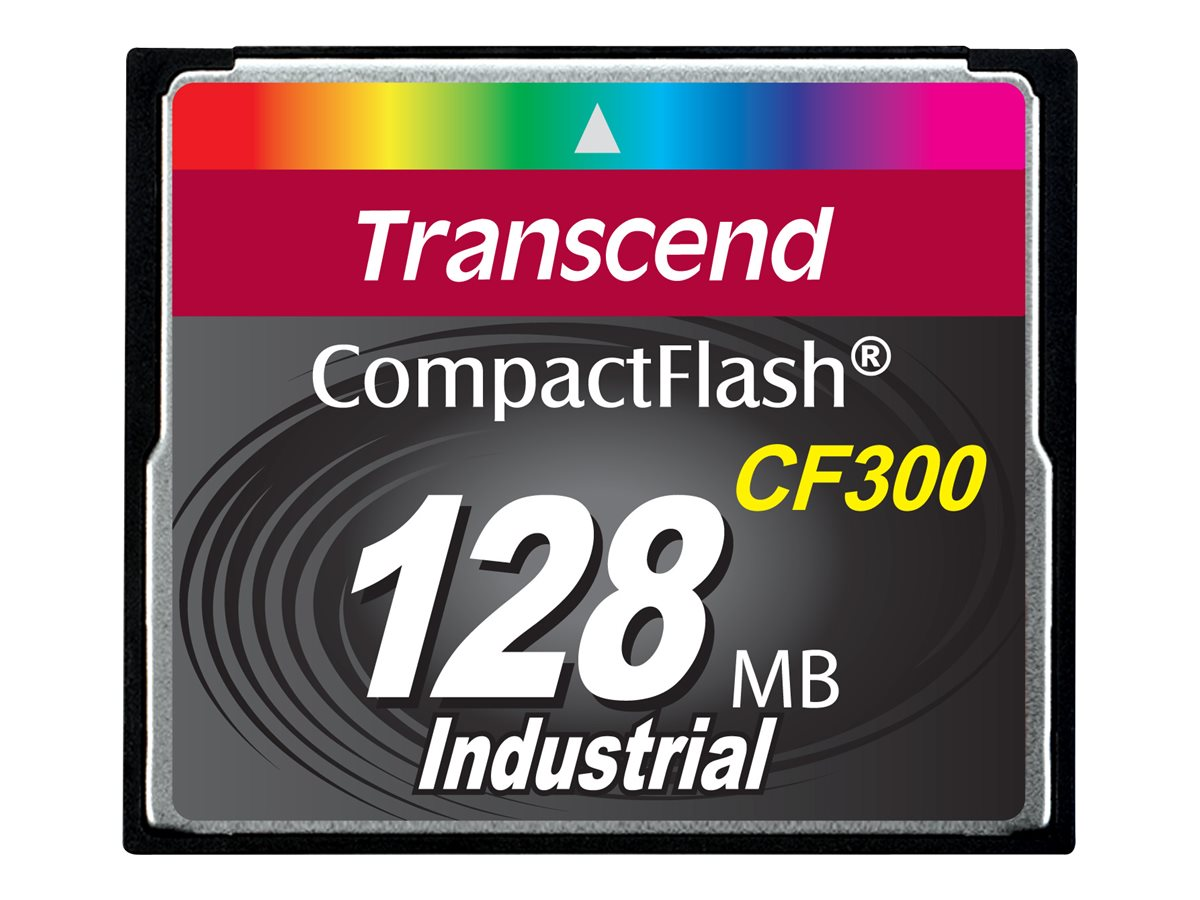 Transcend CF300 Industrial - Flash-Speicherkarte - 128 MB - 300x - CompactFlash