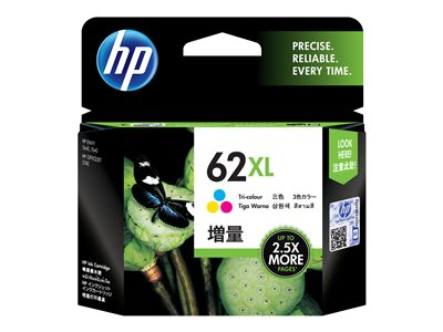 HP 62XL - High Yield - dye-based tricolour - original - ink cartridge - for Envy 55XX, 56XX, 76XX; Officejet 200, 250, 252, 57XX, 8040