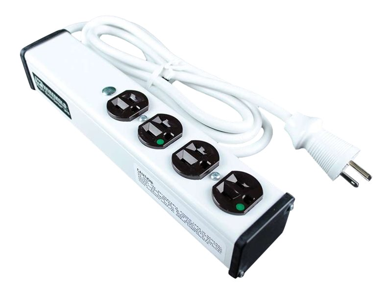 C2G 15ft Wiremold 4-Outlet Plug-In Center Unit 120v/15a 4 Outlet Medical Grade Power Strip - power strip