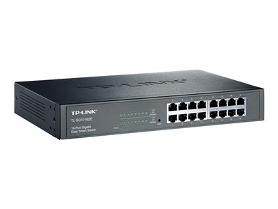 TP-LINK JetStream TL-SG1016DE - commutateur - 16 ports - Géré - Montable sur rack