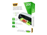 Fellowes 200-pack clear Letter A Siz