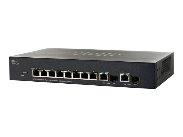 Cisco Small Business SF302-08PP - commutateur - 8 ports - Géré - Ordinateur de bureau, Montable sur rack