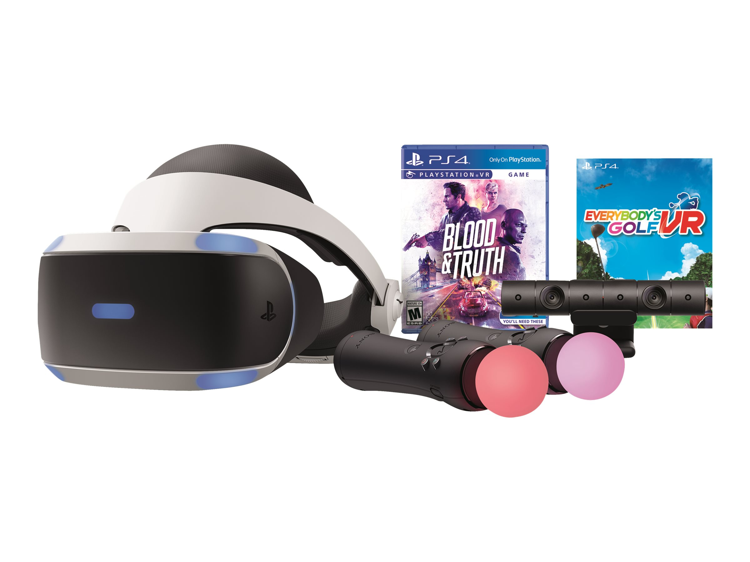 """Sony PlayStation VR CUH-ZVR2 UU - 3D virtual reality headset - Full HD (1080p) - 5.7"""" - with Playstation camera, 2 Play…"""