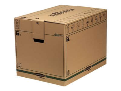 Caisses americaines Bankers Box SmoothMove FastFold Extra Large - boîte d'expédition