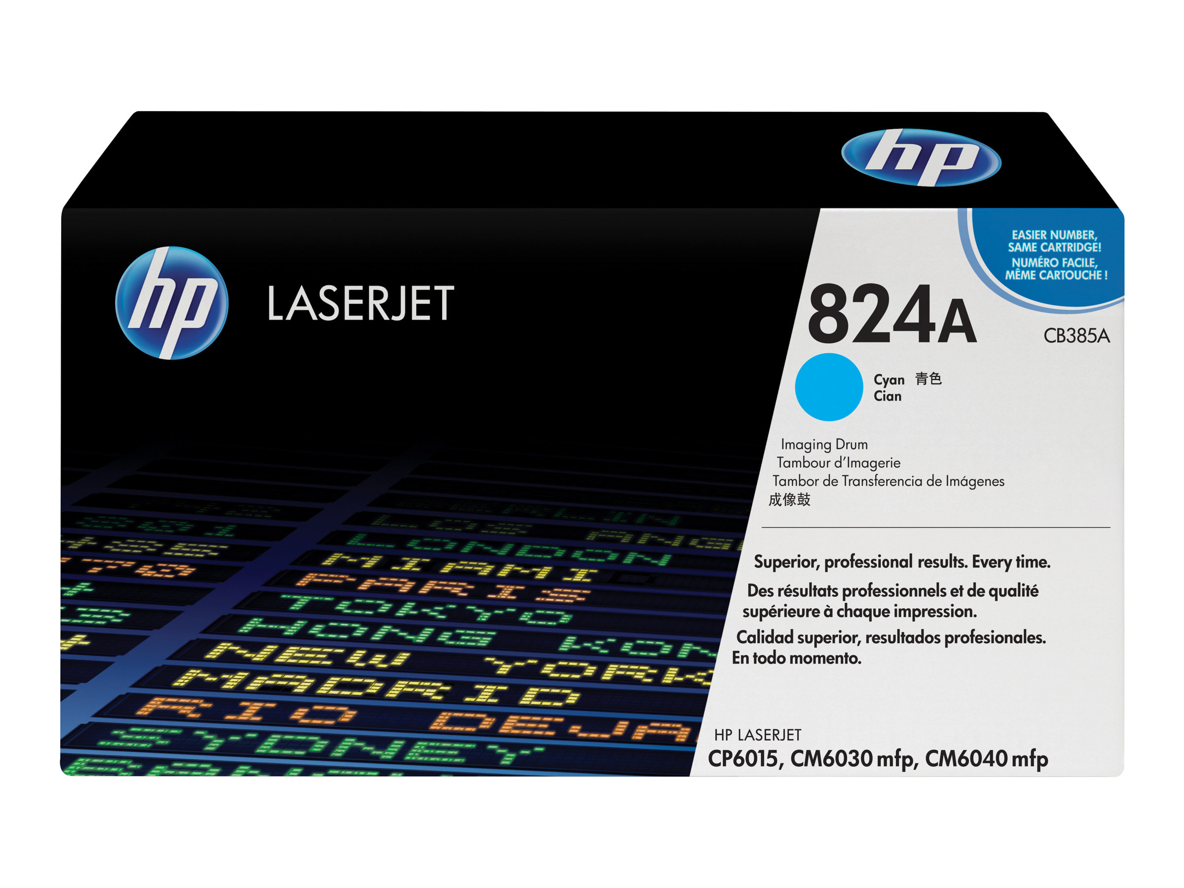 HP 824A - 1 - Cyan - Trommel-Kit - für Color LaserJet CL2000, CM6030, CM6040, CP6015