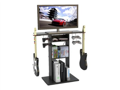 Atlantic Game Central Stand for TV paper, steel wire, wood composite black