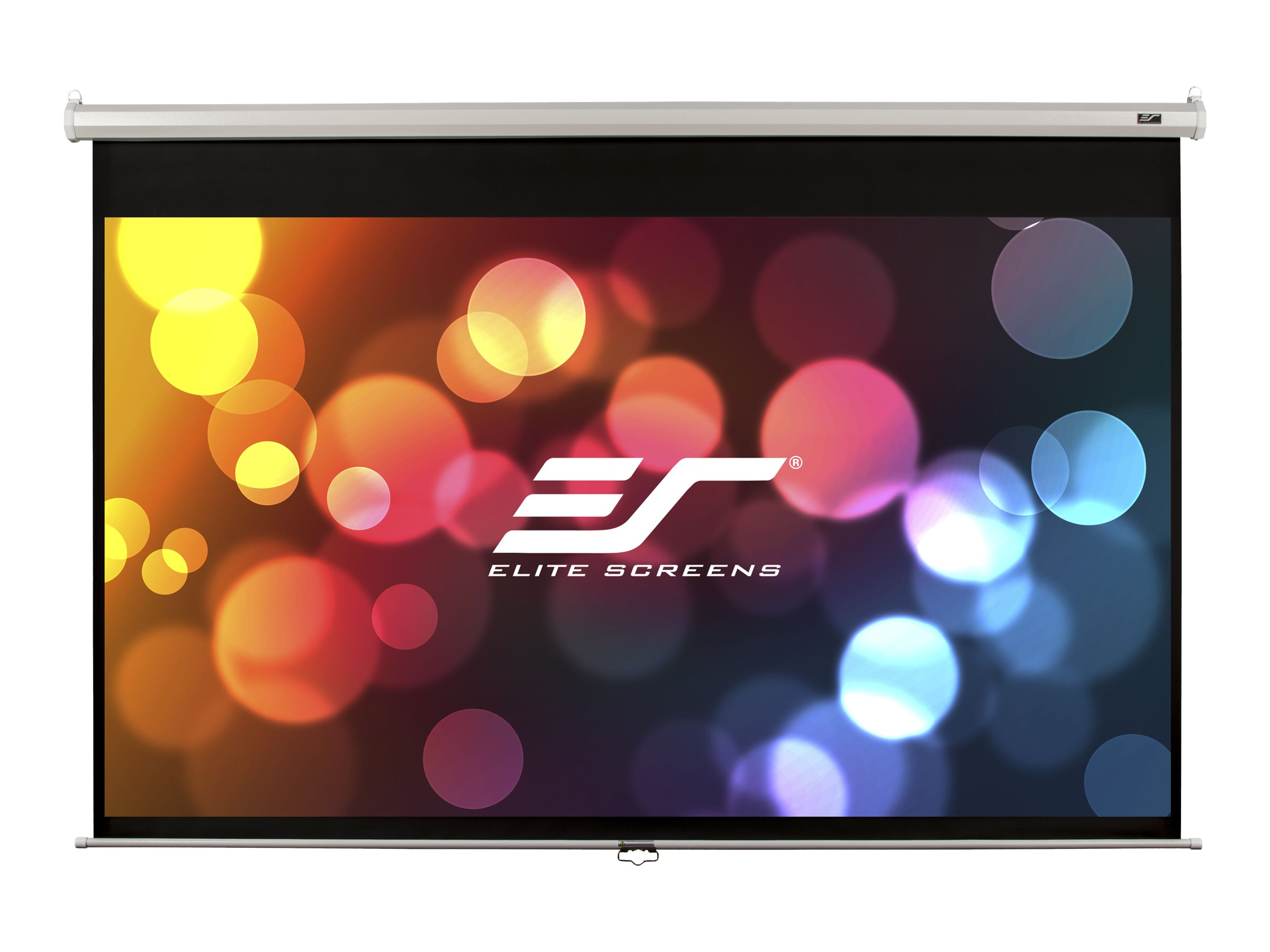 Elite Screens Manual Series M119XWS1 - Écran de projection - 119 po (302 cm) - 1:1 - MaxWhite - blanc