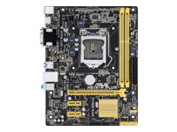 ASUS H81M-P PLUS - Motherboard - micro ATX - LGA1150 Socket - H81 - USB 3.0 - Gigabit LAN - onboard graphics (CPU required) - HD Audio (8-channel)