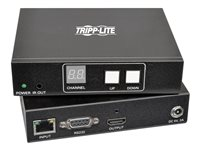 Tripp Lite HDMI/DVI Over IP Transmitter & Receiver Extender Kit Audio/Video with RS-232 Serial and