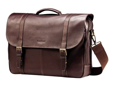 Samsonite Leather Flapover Case Double Gusset Notebook carrying case 13INCH 15.6INCH brown