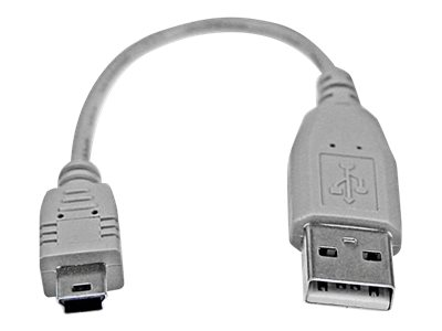 StarTech.com 6 in. USB to Mini USB Cable - USB 2.0 A to Mini B - Gray - Mini USB Cable (USB2HABM6IN) - USB cable - 15 cm