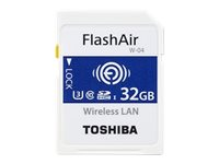 Toshiba FlashAir W-04 - Wireless-Speicherkarte - 32 GB - UHS-I U3 / Class10 - SDHC - Wi-Fi