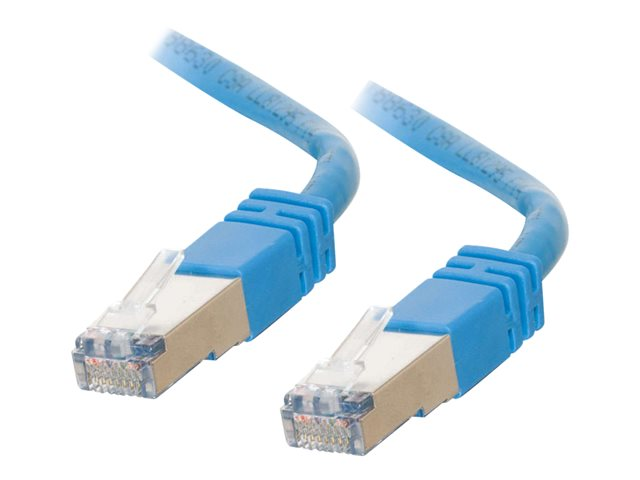 Image of C2G Cat5e Booted Shielded (STP) Network Patch Cable - patch cable - 20 m - blue