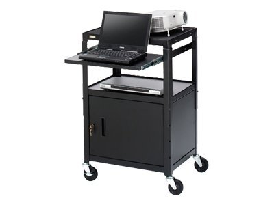 Bretford Basics Adjustable Projector Cart with Cabinet CA2642NS-E5