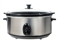 Brentwood SC-150S Slow cooker 6.5 qt stainless steel