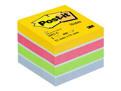 Notes repositionnables Mini Cube Post-it Energie - 51 x 51 mm