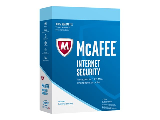 Image of McAfee Internet Security - subscription licence (1 year) - 1 device