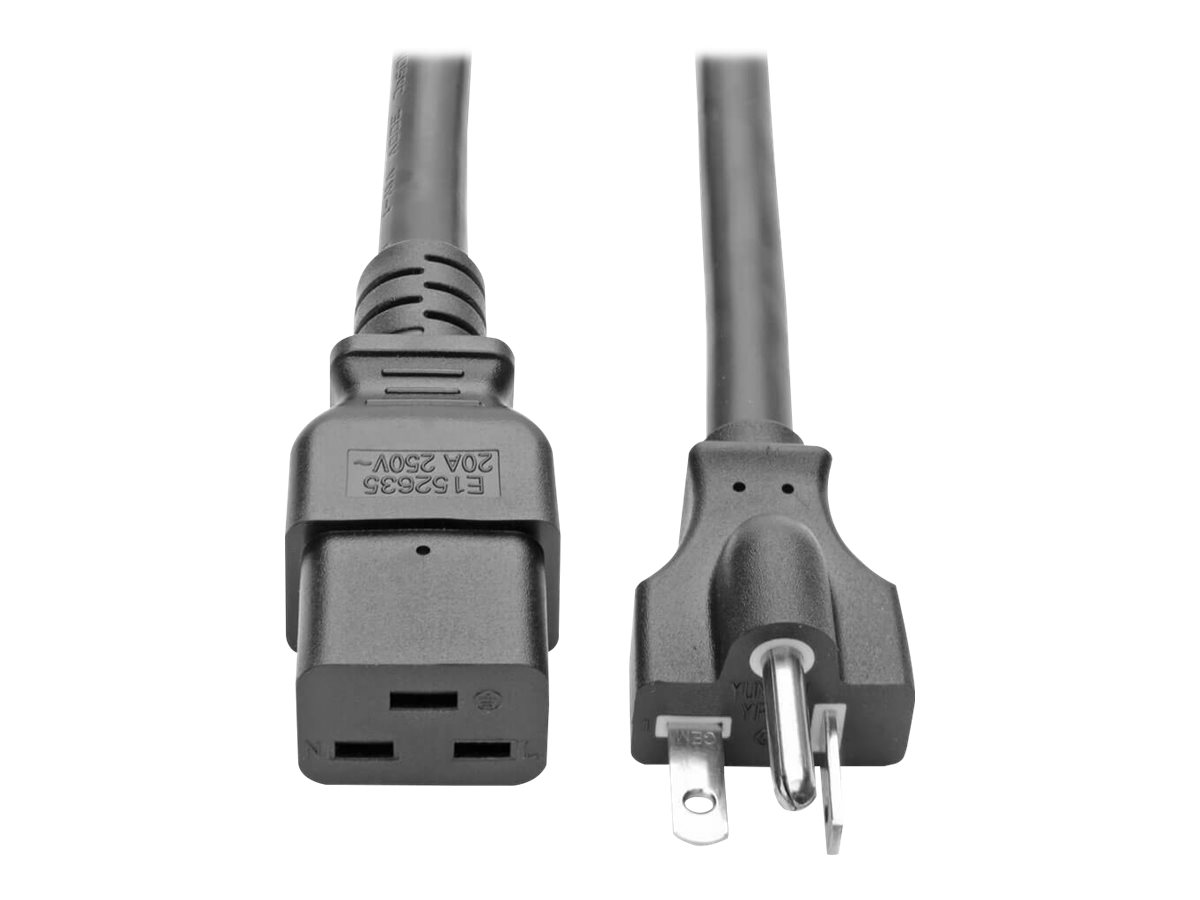 Tripp Lite 10ft Power Cord Extension Cable C19 to 5-20P Heavy Duty 20A 12AWG 10' - power cable - 3 m
