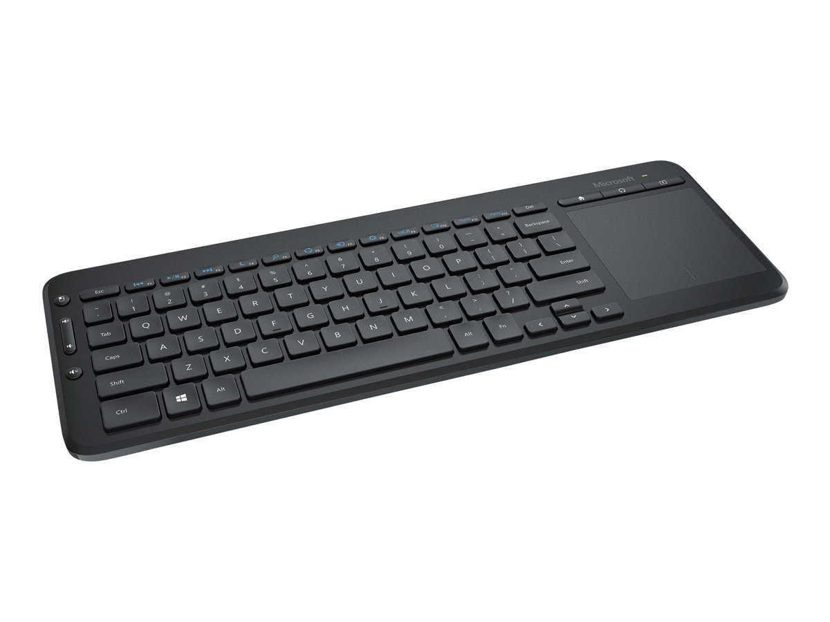 Microsoft All-in-One Media Keyboard with Integrated Multi-Touch Trackpad - Tastatur - drahtlos - 2.4 GHz - Deutsch