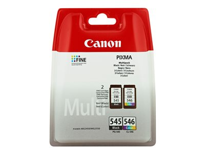 Canon PG 545 / CL-546 Multipack Sort Farve (cyan, magenta, gul) 180 sider