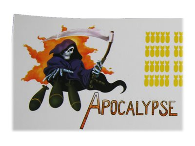 "Decal Zone - Nose Art ""Apocalypse"" Sticker Decal"