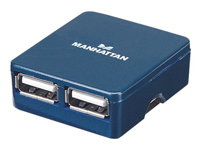 Manhattan Hi-Speed USB 2.0 Micro Hub - Hub - 4 x USB 2.0 - Desktop