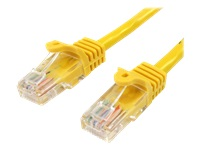 StarTech.com 5m Yellow Cat5e / Cat 5 Snagless Ethernet Patch Cable 5 m - Network cable - RJ-45 (M) to RJ-45 (M) - 5 m - UTP - CAT 5e - snagless, stranded - yellow