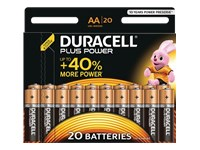 Picture of Duracell Plus Power MN1500 - battery - 20 x AA type - Alkaline (MN1500B20)