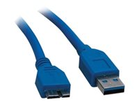 Professional Cable USB cable Micro-USB Type B (M) to USB Type A (M) USB 3.0 6 ft blu
