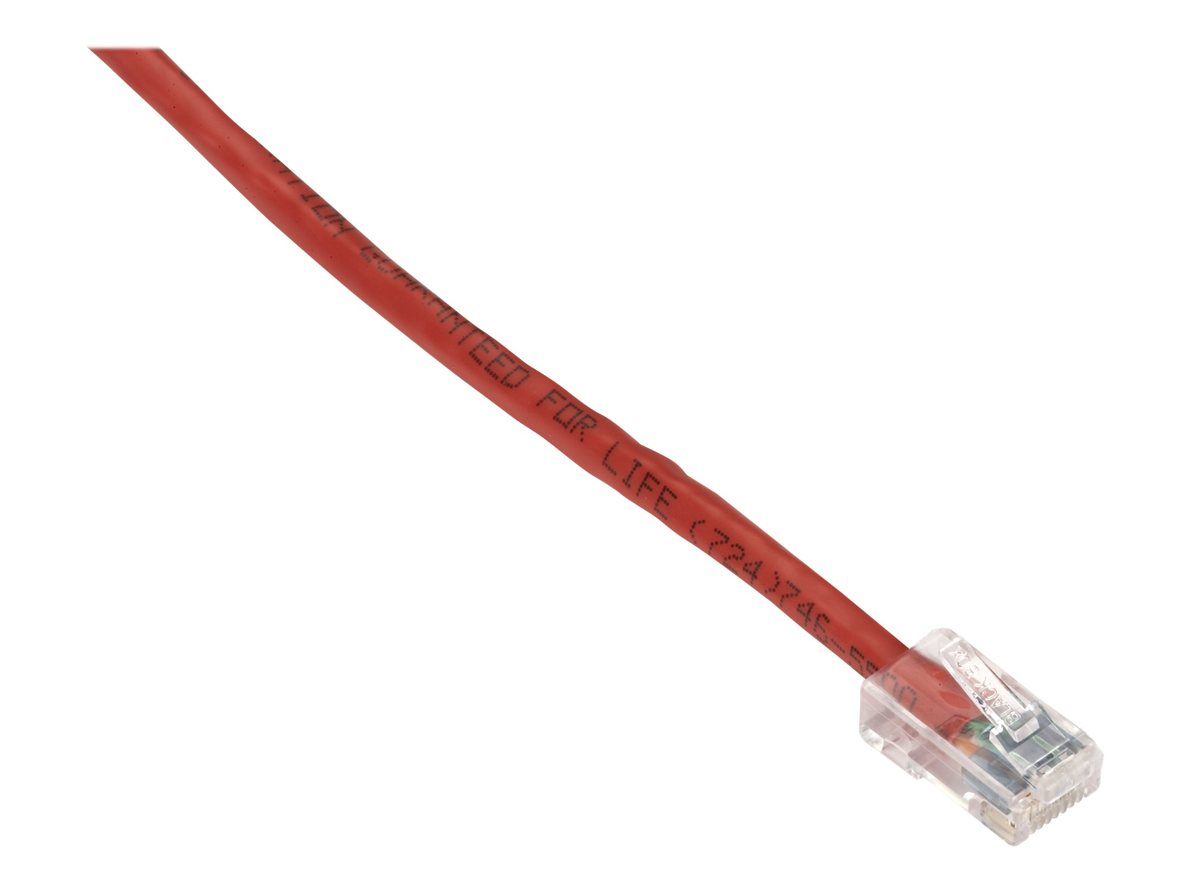 Black Box GigaTrue CAT6 Channel 550-MHz Patch Cable with Basic Connector - patch cable - 3 m - red