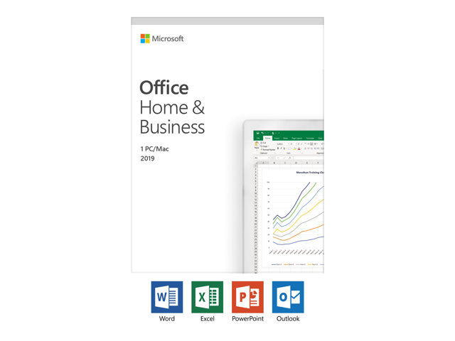 Microsoft Office Home and Business 2019 - Version boîte - 1 PC/Mac - sans support, Microsoft Save Now - Win, Mac - français - France