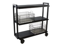 ürb SPACE Trolley 3 shelves 3 tiers powder-coated steel black