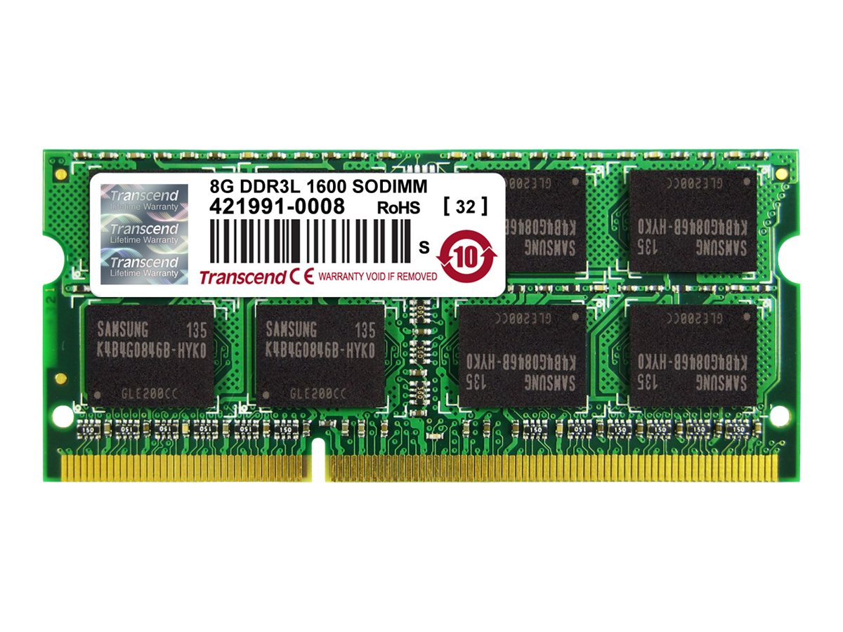 Transcend - DDR3L - 8 GB - SO DIMM 204-PIN - 1600 MHz / PC3L-12800 - CL11
