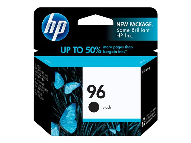 HP 96 - 21 ml - black - original - ink cartridge - for Deskjet 69XX; Officejet 72XX; Photosmart 25XX, 26XX, 27XX, 81XX, 84XX, 87XX, Pro B8330