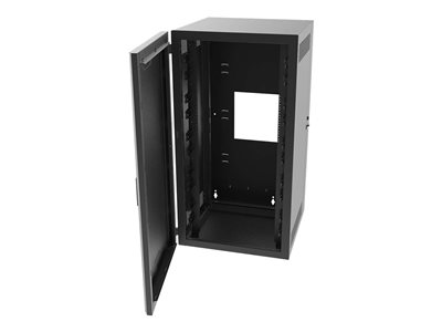 Legrand 12RU Swing-Out Wall-Mount Cabinet with Solid Door Black TAA System cabinet