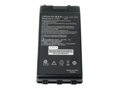 GammaTech Notebook battery (Primary) 1 x lithium ion 6-cell 5200 mAh for Du