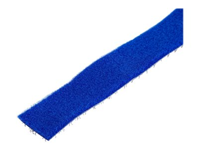 StarTech.com 100ft Hook and Loop Roll, Cut-to-Size Reusable Cable Ties, Bulk Industrial Wire Fastener Tape / Adjustable Fabric Wraps Blue / Resuable Self Gripping Cable Management Straps - Adjustable Loop Ties (HKLP100BL)
