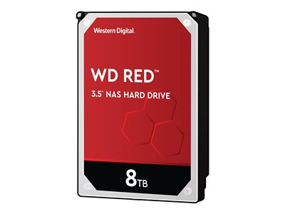 WD Red Plus NAS Hard Drive WD80EFAX - harddisk - 8 TB - SATA 6Gb/s