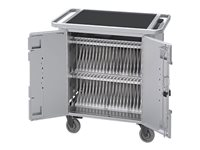 Bretford PureCharge Cart 40 HGFM2 Cart (charge only) for 40 tablets steel platinum powder