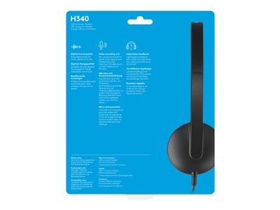 Logitech USB Headset H340 Headset on-ear wired USB