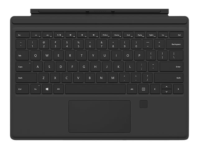 Microsoft Surface Pro 4 Type Cover with Fingerprint ID - Tastatur - mit Trackpad, Beschleunigungsmesser - Deutsch - Onyx - kommerziell