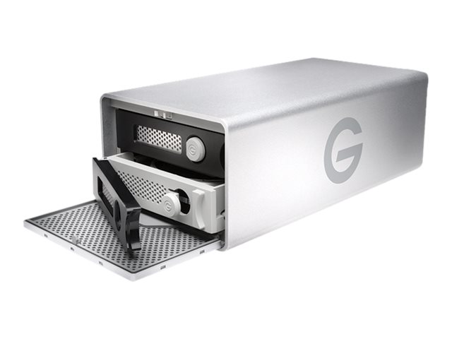 G-Technology G-RAID Removable GRARTH2EB80002BAB - Festplatten-Array - 8 TB - 2 Schächte (SATA-600) - HDD 4 TB x 2 - USB 3.0, Thunderbolt 2 (extern)