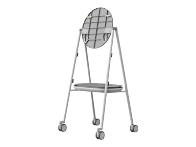 Steelcase Cart for interactive flat panel gray, arctic white, pewter